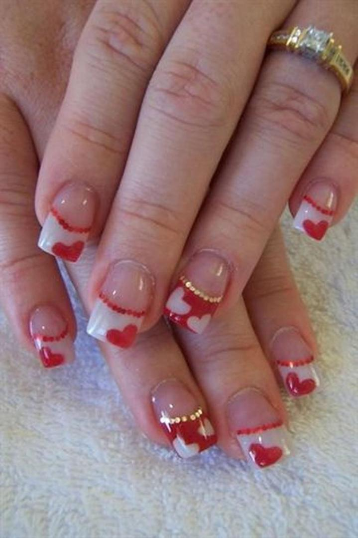Gorgeous Valentines Day Acrylic Nail Designs 21