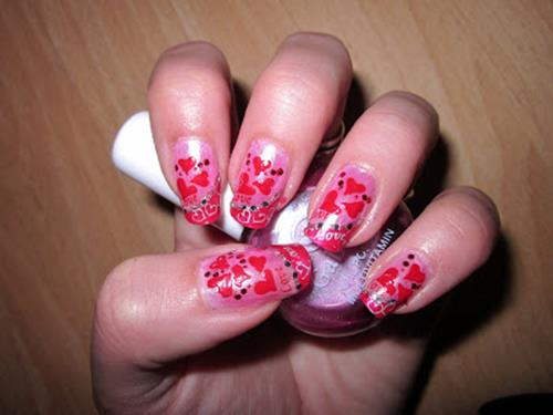 Gorgeous Valentines Day Acrylic Nail Designs 31