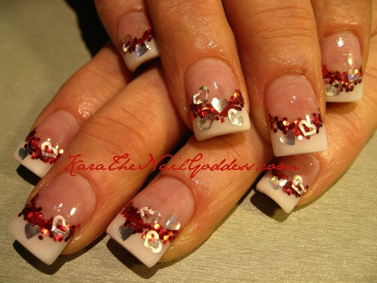 Gorgeous Valentines Day Acrylic Nail Designs 36