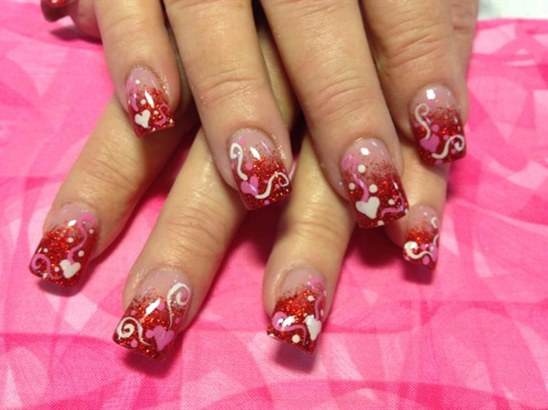 Gorgeous Valentines Day Acrylic Nail Designs 37