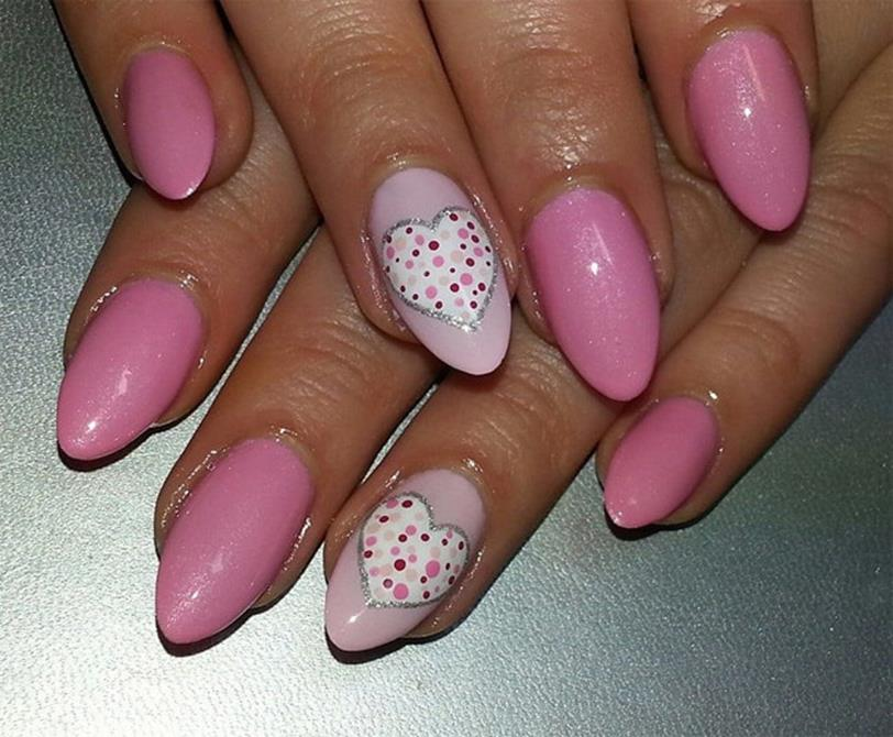 Gorgeous Valentines Day Acrylic Nail Designs 42
