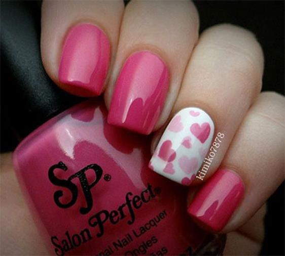 Gorgeous Valentines Day Acrylic Nail Designs 8