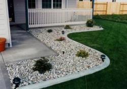 Front Yard Landscaping Ideas with White Rocks 20
