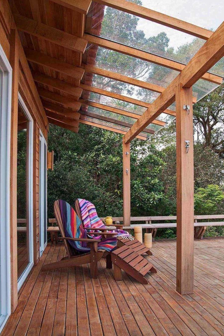Cozy and Gorgeous Patio Roof with Pergola Glass 11