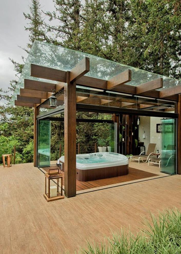 Cozy and Gorgeous Patio Roof with Pergola Glass 33