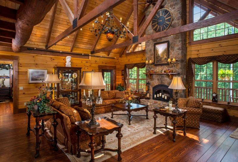 Lovely Family Room Wood Ceiling Design 27