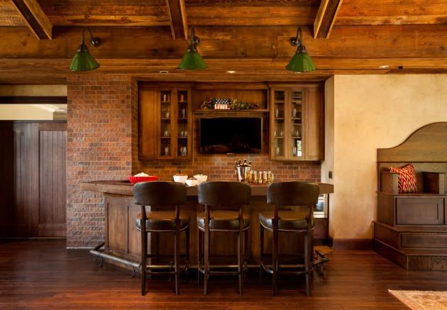 Lovely Family Room Wood Ceiling Design 9