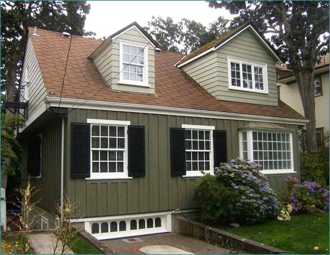 Stunning Exterior House With Brown Roof Colors 11