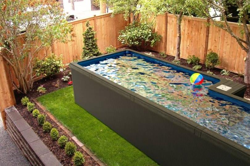 Affordable Small Backyard with Plunge Pool 20
