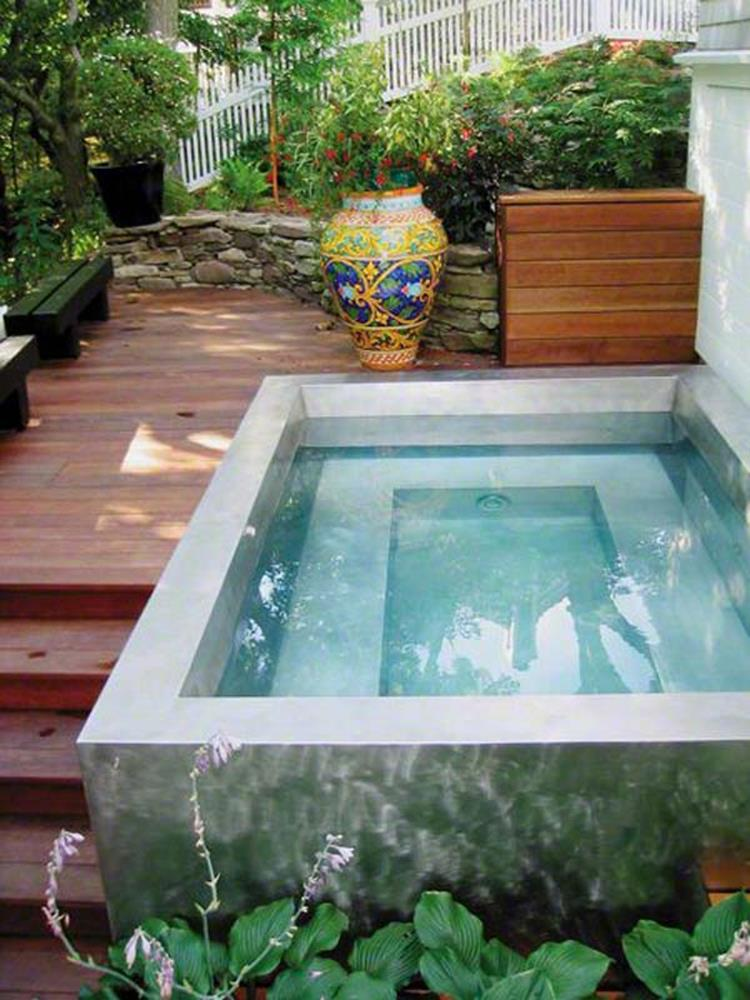 Affordable Small Backyard with Plunge Pool 29