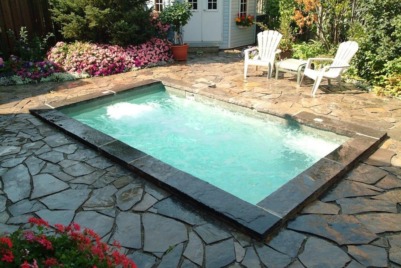 Affordable Small Backyard with Plunge Pool 3
