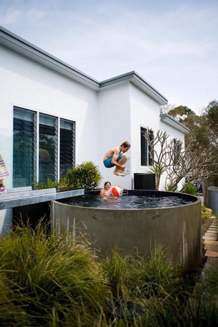 Affordable Small Backyard with Plunge Pool 30