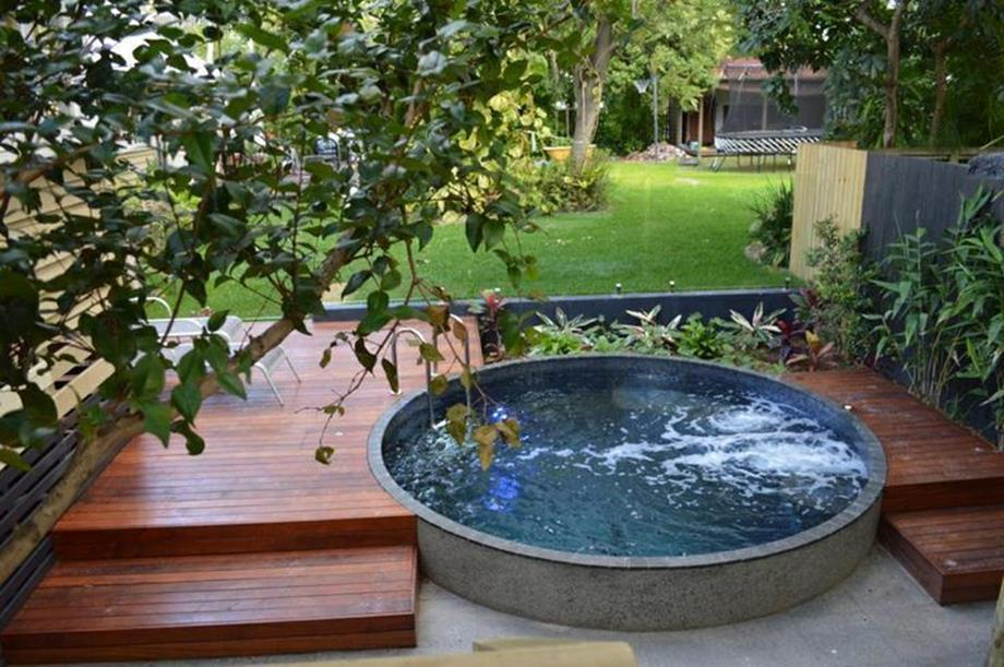 Affordable Small Backyard with Plunge Pool 6