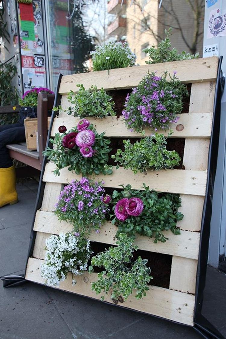Upcycled Wood Pallet Gardens 24