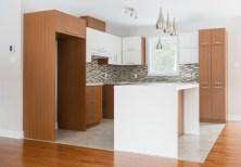 Choix de matériaux, luminaires, Maison modèle Richard Construction 2014