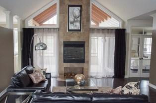 Décor contemporain, maison modèle