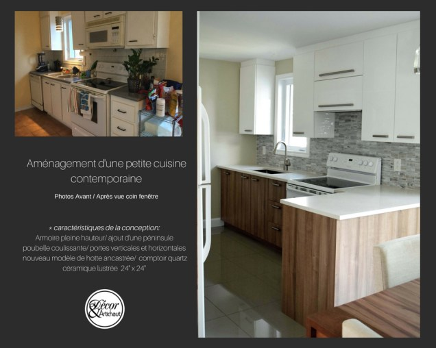 configuration d'une petite cuisine