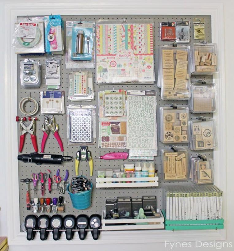 Craft Room Storage Organization Ideas On a Budget 14