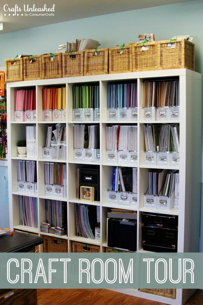 Craft Room Storage Organization Ideas On a Budget 35