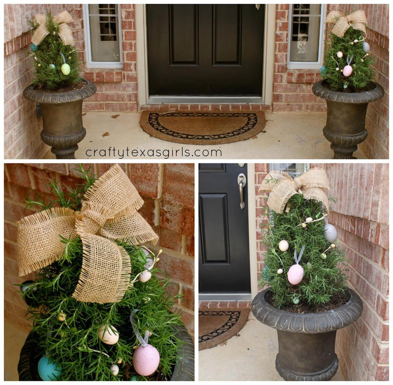 DIY Front Door Easter Decorating Ideas 11