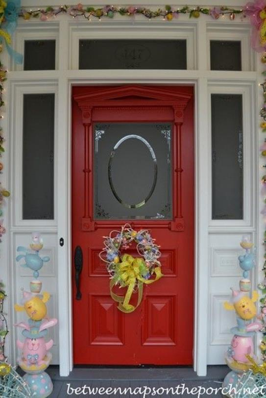 DIY Front Door Easter Decorating Ideas 19