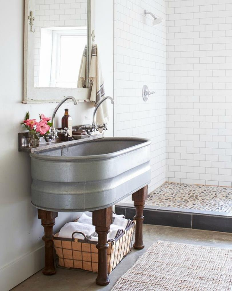 Farmhouse Style Bathroom Sink Ideas 22