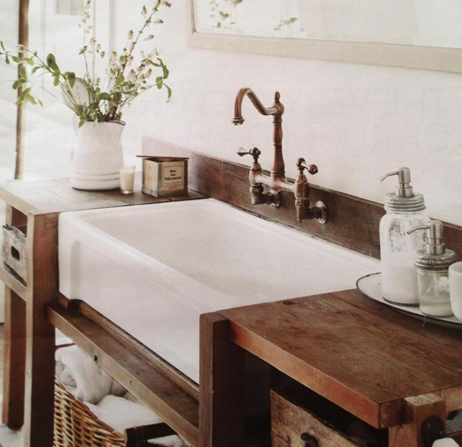 Farmhouse Style Bathroom Sink Ideas 4