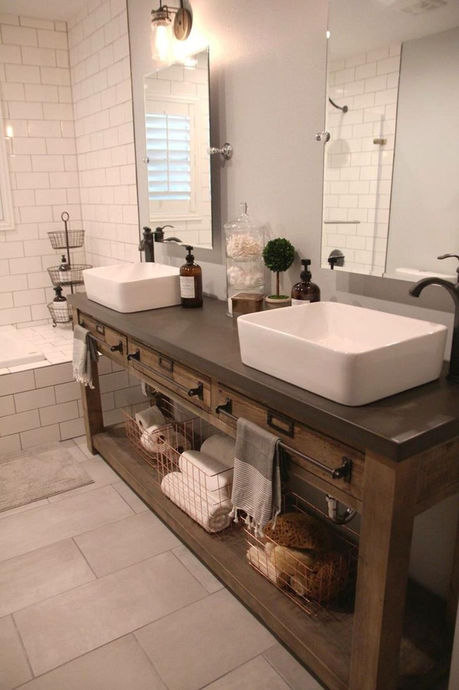 Farmhouse Style Bathroom Sink Ideas 7