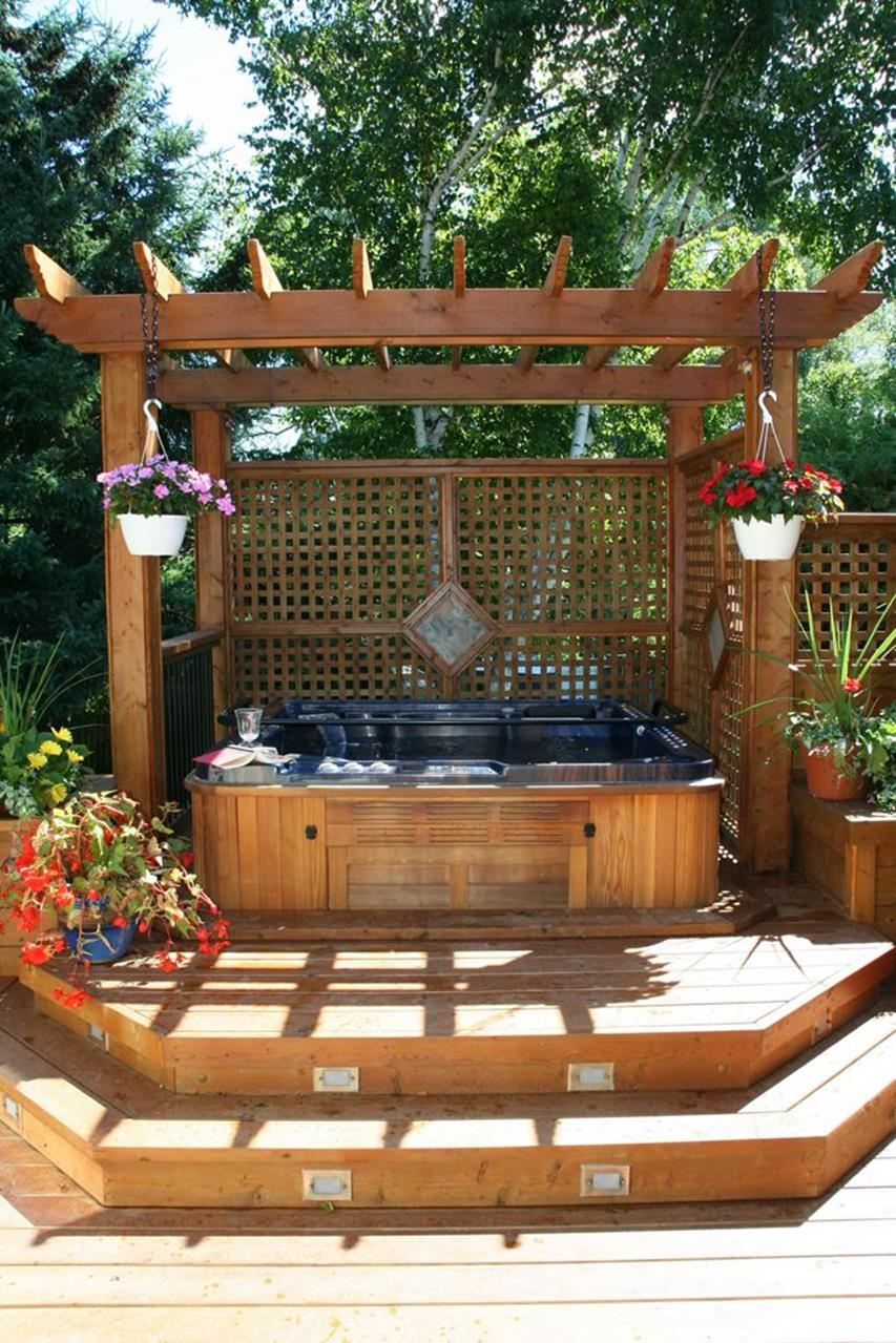 Perfect Outdoor Hot Tub Privacy Ideas 10