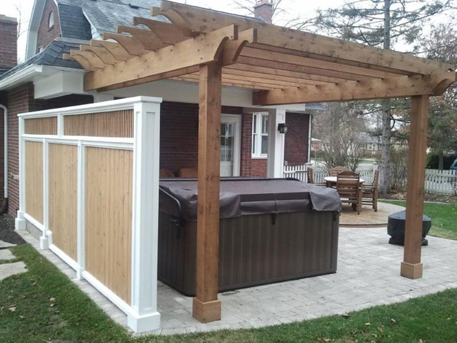 Perfect Outdoor Hot Tub Privacy Ideas 15