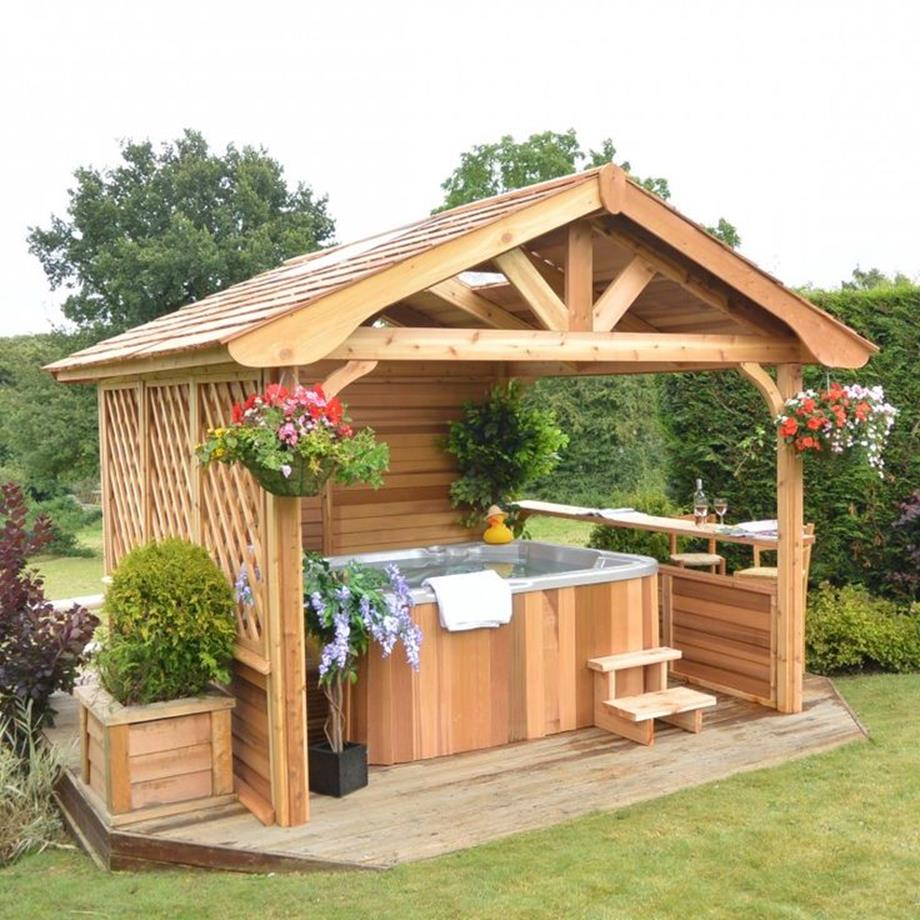 Perfect Outdoor Hot Tub Privacy Ideas 2
