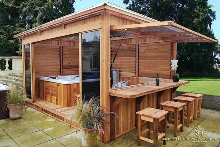 Perfect Outdoor Hot Tub Privacy Ideas 30
