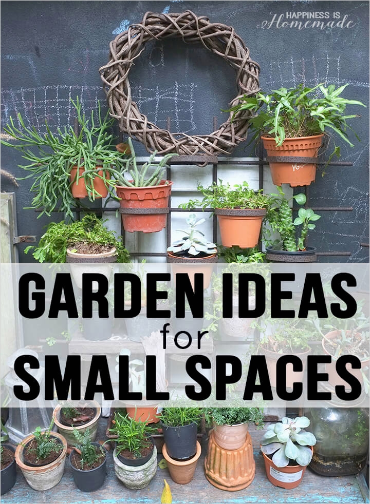 Garden Ideas for Small Spaces 73 20 Garden Ideas for Small Spaces Happiness is Homemade 5