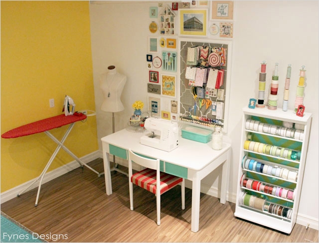 Sewing Room Ideas for Small Spaces 13 Craft Room Reveal Fynes Designs 1