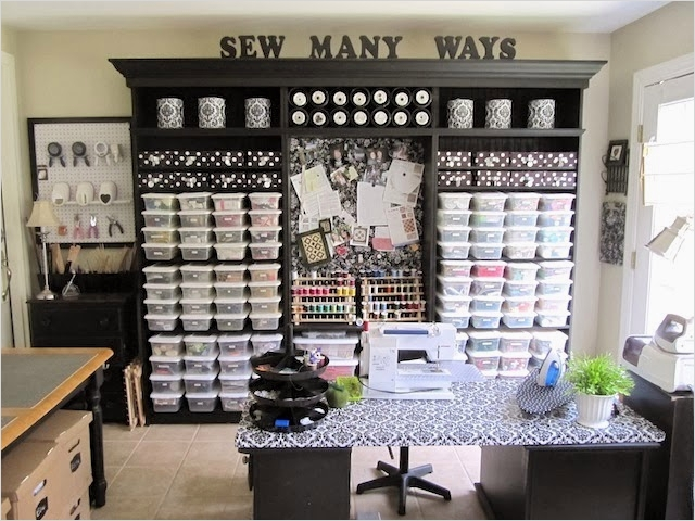 Sewing Room Ideas for Small Spaces 79 Small Sewing Room organization Ideas 4