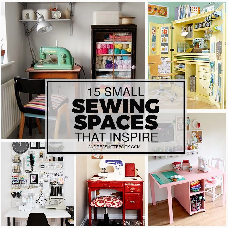 Sewing Room Ideas for Small Spaces 93 15 Small Sewing Spaces that Inspire Creativity Studio Inspiration Pinterest 3