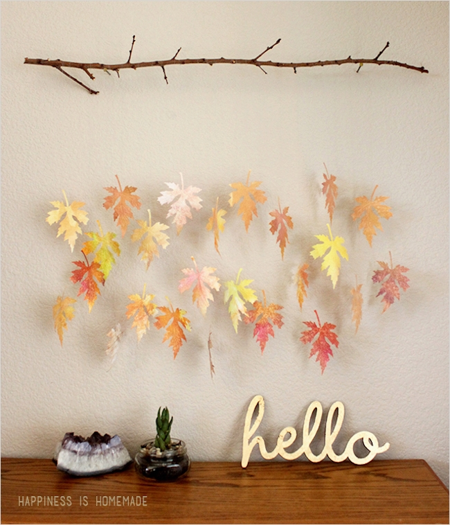 44 Creative Craft Wall Decoration Ideas 67 8 Creative Diy Project Ideas for Using Fall Leaves as 7