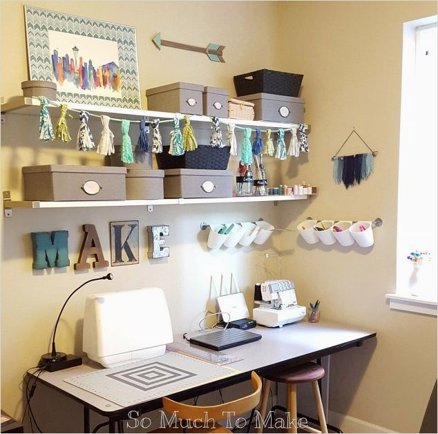 40 Creative Sewing Room Storage Ideas 44 Small Space Sewing Room Makeover 6