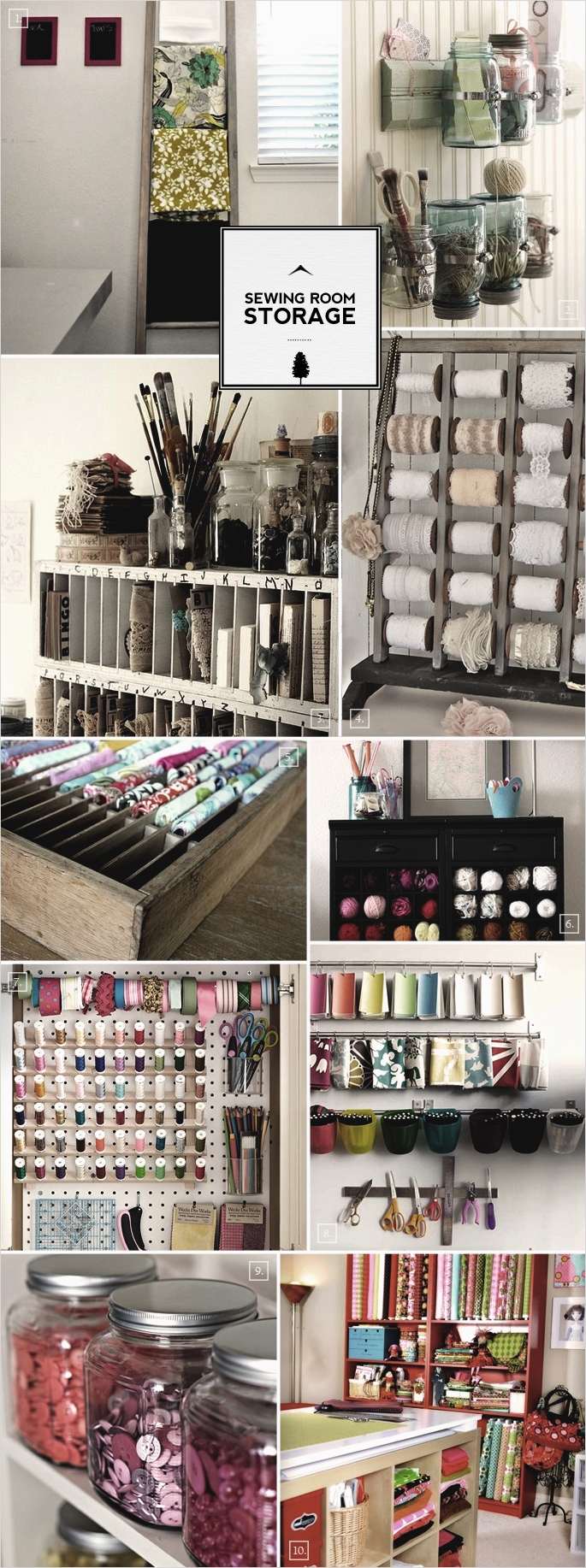 40 Creative Sewing Room Storage Ideas 75 Sewing Room organization Ideas 1