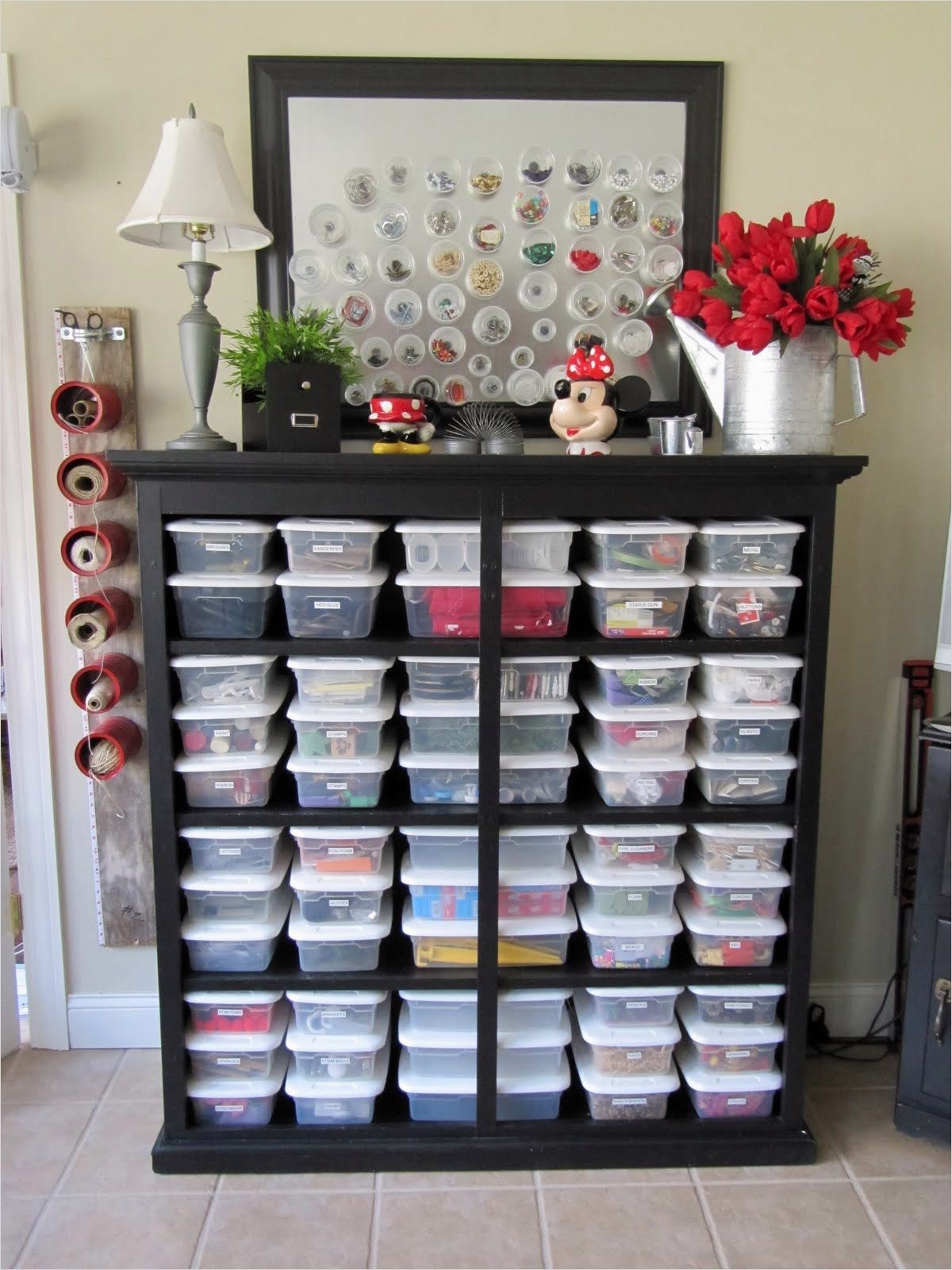 40 Creative Sewing Room Storage Ideas 39 Blukatkraft Bead Storage Craft Room Ideas 6