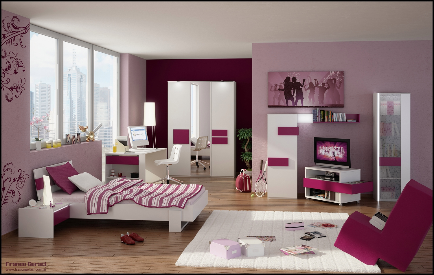 42 Stylish Bedrooms for Teenage Girls 59 Funky Trendy and Very Stylish Teenage Room Designs 5