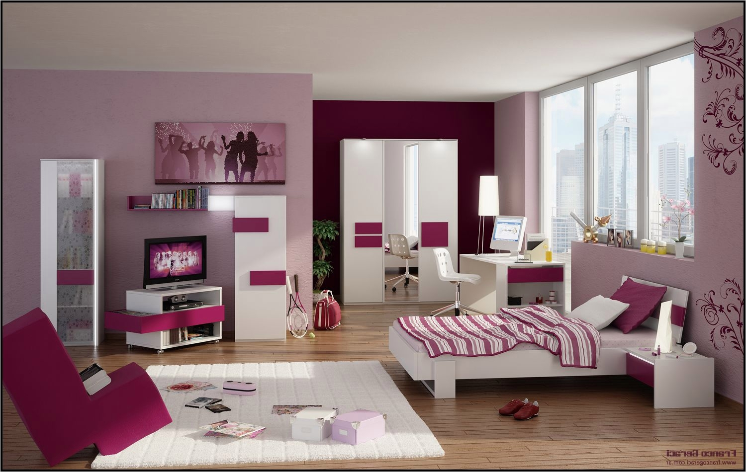 42 Stylish Bedrooms for Teenage Girls 74 Bedroom Design Stylish and Sweet Bedroom for Young Girls 2