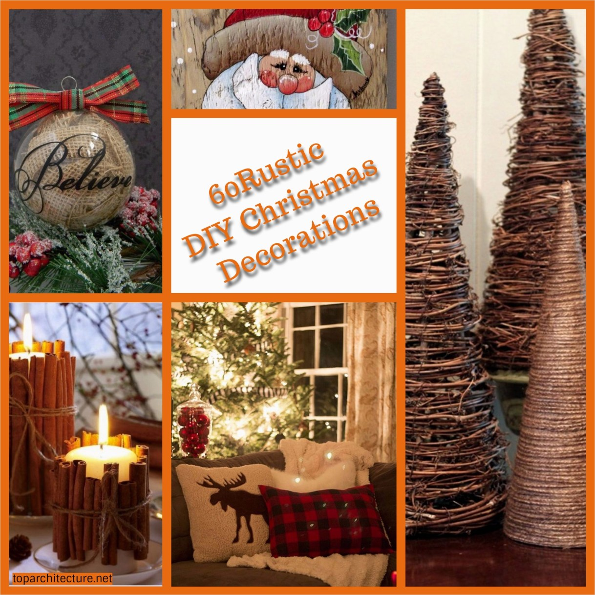 45 Diy Rustic Christmas Decorations 35 60 Rustic Diy Christmas Decorations toparchitecture 3
