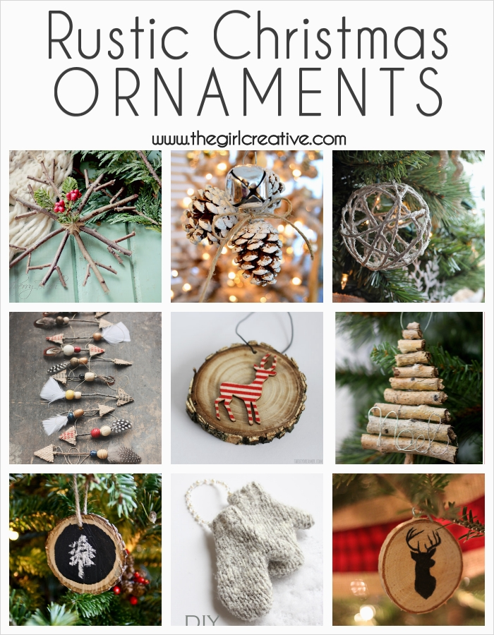 45 Diy Rustic Christmas Decorations 91 Diy Rustic Christmas ornaments the Girl Creative 2