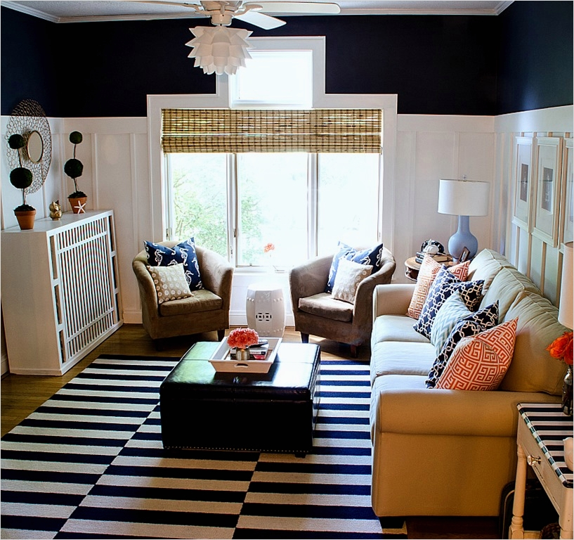41 Amazing Navy Blue and White Living Room 58 Navy Blue Living Room Decorating Ideas Modern Creation with Frames Colletcion ornaments Decorate 6