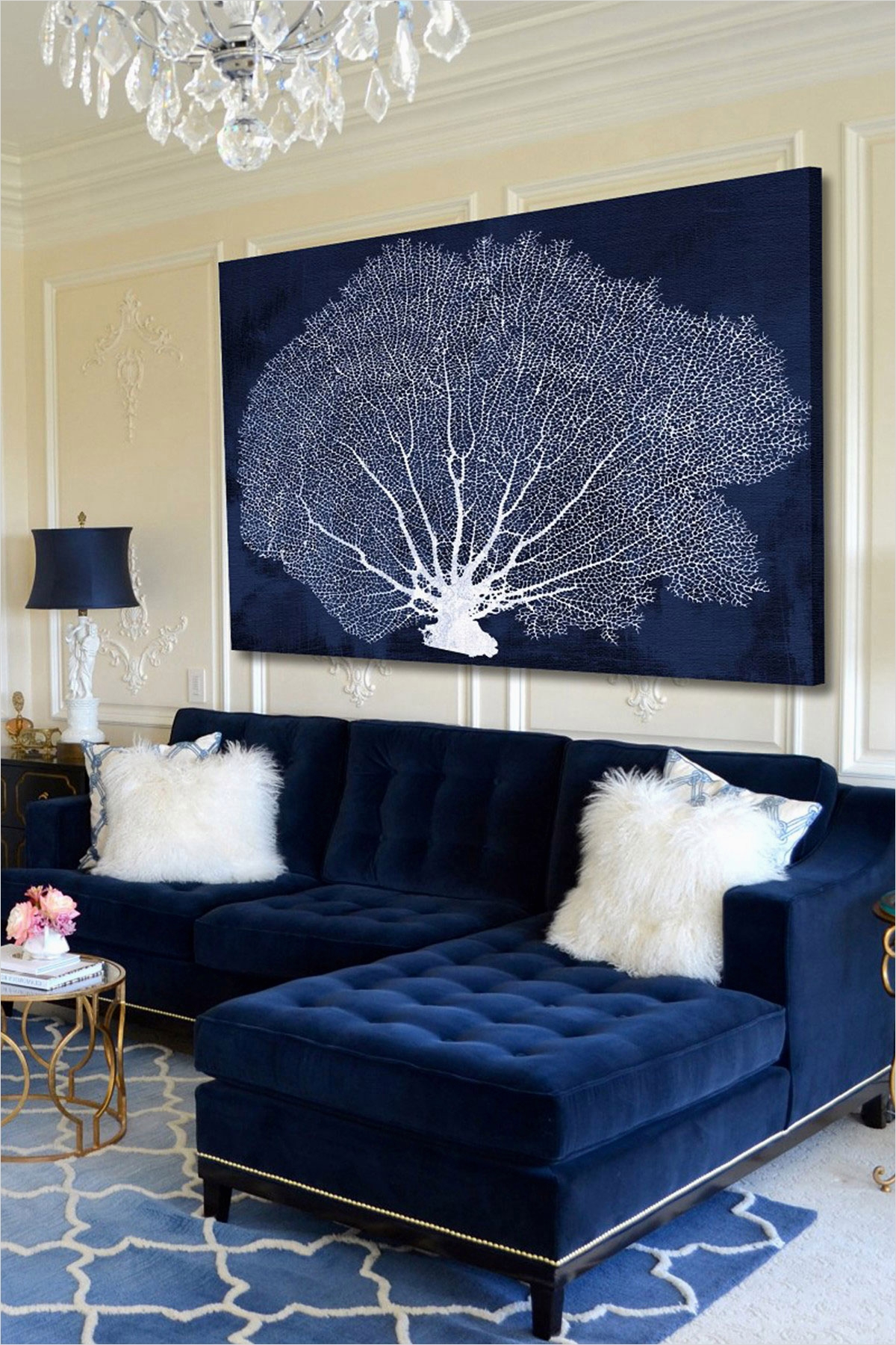 41 Amazing Navy Blue and White Living Room 88 Navy Blue Living Room Ideas – Adorable Home 4
