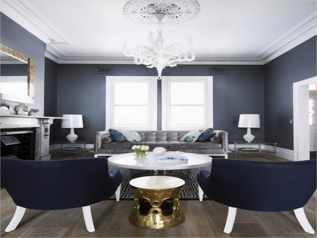 41 Amazing Navy Blue and White Living Room 29 Old World French Decor Navy Blue and Gray Grey White and Blue Living Room Living Room 8