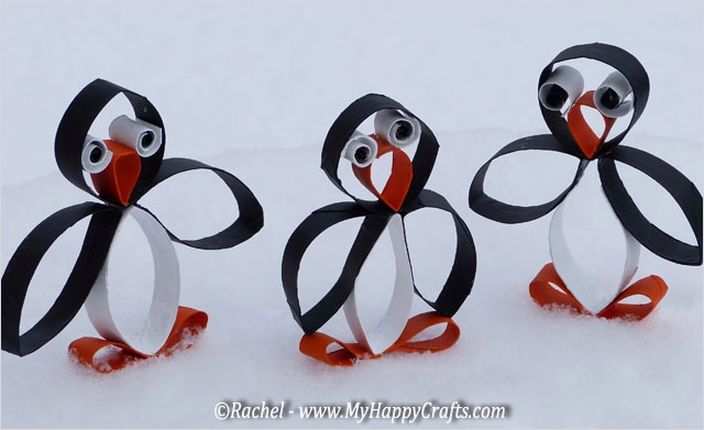 40 Diy Easy Winter Crafts 88 Penguin Craft for A Winter Recycling Craft Made Of toilet Paper Rolls 4