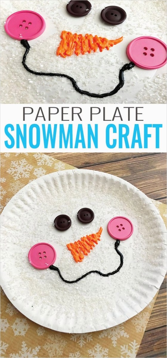 40 Diy Easy Winter Crafts 17 Paper Plate Snowman Craft Winter Crafts for Kids Easy Peasy and Fun 9
