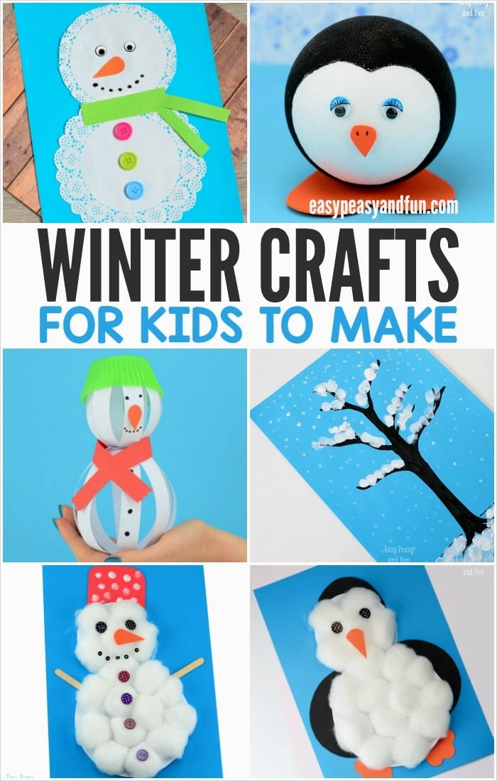 40 Diy Easy Winter Crafts 46 Winter Crafts for Kids to Make Fun Art and Craft Ideas for All Ages Easy Peasy and Fun 1